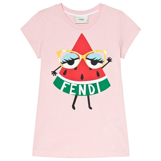 Fendi Pink Watermelon Monster Print Tee F0BTZ
