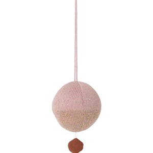 Image of ferm LIVING Ball Knitted Music Mobile - Rose (2994537245)