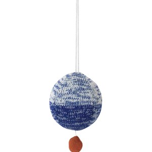Image of ferm LIVING Ball Knitted Music Mobile - Blue (2994537243)