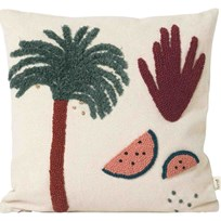 ferm LIVING Palm Cushion off-white