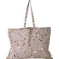 ferm LIVING Tote Bag - Terrazzo - Rose - XL Multi