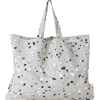ferm LIVING Tote Bag - Terrazzo - Grey - XL Black