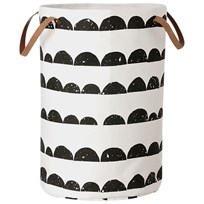 ferm LIVING Half Moon Laundry Basket White/Black