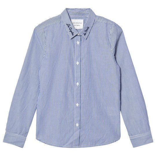 Les Coyotes De Paris Blue Emmy Stripe Shirt T STRIPE