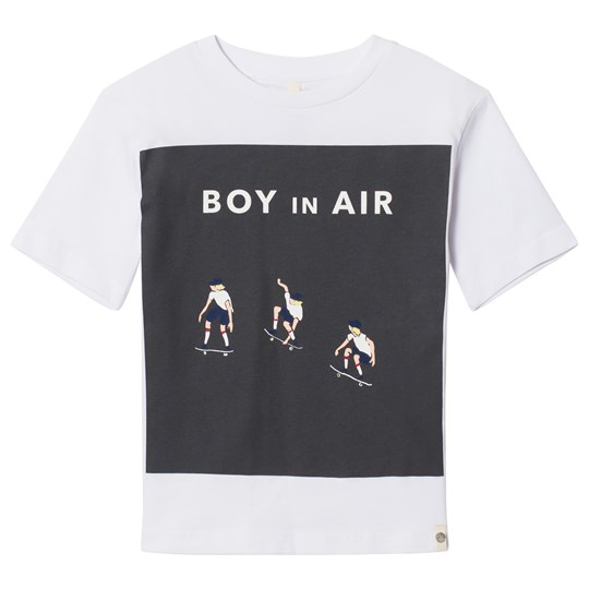 Popupshop Loose Tee Optic White with Skater Optic White With Skater