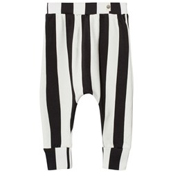 Popupshop Baggy Leggings Stripe Black/Off White