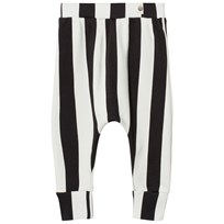 Popupshop Baggy Strumpbyxor Stripe Black/Off White Stripe Black/Off White