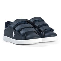 Ralph Lauren Leather Velcro Sneakers Navy Navy/White