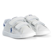 Ralph Lauren Leather Velcro Sneakers White WHITE/ROYAL