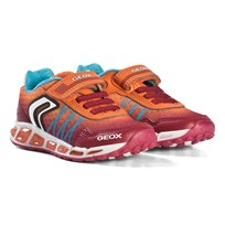Geox Red and Orange Shuttle Light Up Sneakers C0847