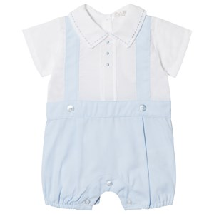 Image of Dr Kid White and Blue Short Romper 1 month (2995685405)