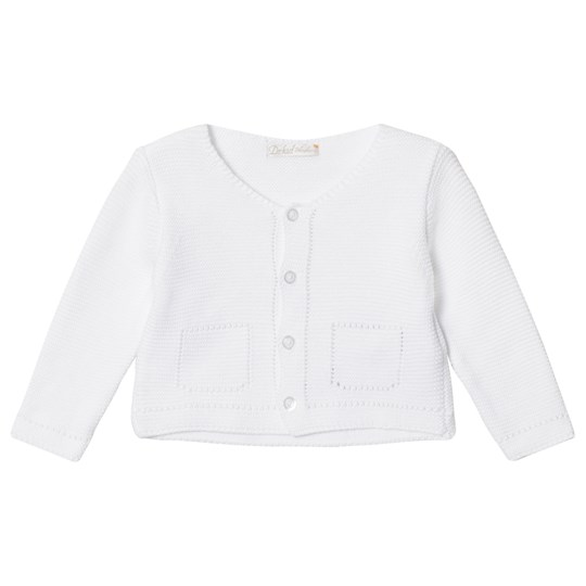 Dr Kid White Knitted Infants Cardigan 000