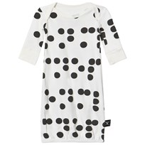 NUNUNU Braille Sleepsack White White