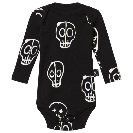 NUNUNU Skull Mask Baby Body Svart Black
