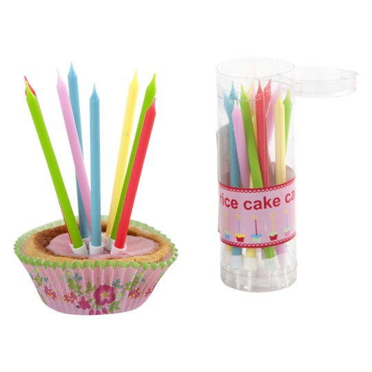 Rice 20-Pack Cake Candles Multi