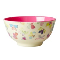 Rice Melamine Bowl with Butterfly Print Multi