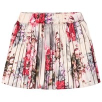 Petit by Sofie Schnoor Rose Print Pleated Skirt Pink Multi