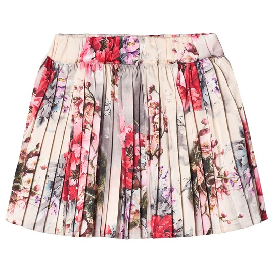 Petit by Sofie Schnoor Rose Print Pleated Skirt Pink Mønstret