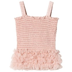 DOLLY by Le Petit Tom Frilly Top Ballet Pink