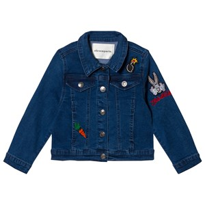 Image of Little Eleven Paris Blue Denim Jacket with Bugs Bunny Embroidered Detail 10 years (2996514907)