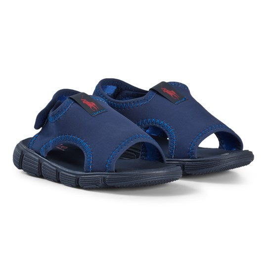 Ralph Lauren Stretch Neoprene Water Sandals with Pony Navy Navy