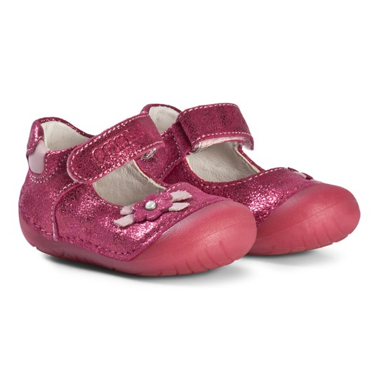 Primigi Mary Janes with Flower Applique In Pink 14002