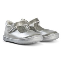 Primigi Mary Janes In Silver 14322
