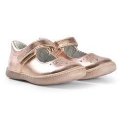 Primigi Perforated Mary Janes In Rose Gold