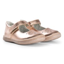 Primigi Perforated Mary Janes In Rose Gold 14331