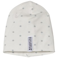 Geggamoja Gray Star Print Bamboo Cap Grey star