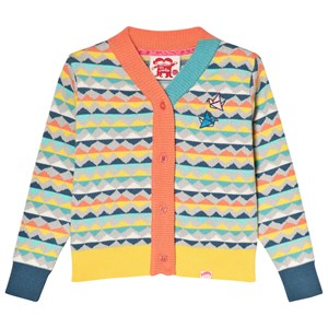 Image of Tootsa MacGinty Multicolored Print Cardigan In Grey 6-8 years (2996516259)