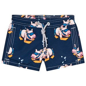 Image of MC2 St Barth Navy Piggy Snorkle Trunks 10 years (2996518711)