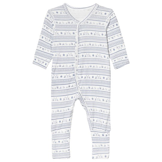 Hust&Claire Printed One-Piece Blue Tint Blue Tint