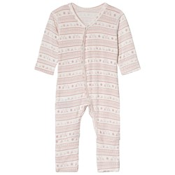 Hust&Claire Mönstrad Bodysuit Dusty Rose