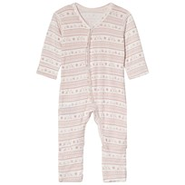 Hust&Claire Mönstrad Bodysuit Dusty Rose Dusty Rose