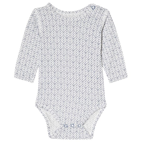 Hust&Claire Mönstrad Baby Body Blue Tint Blue Tint