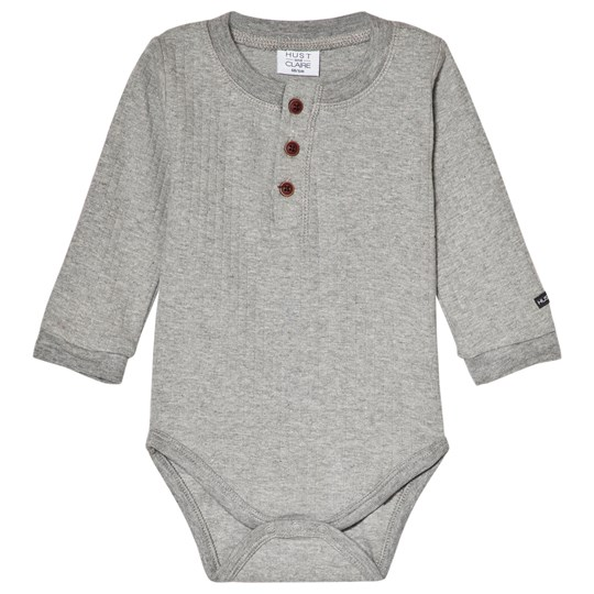 Hust&Claire Baby Body in Light Gray Melange Light Grey Melange
