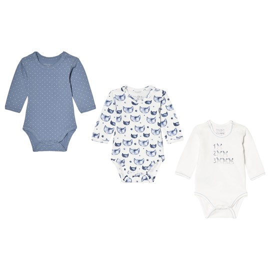 Hust&Claire 3-Pack Baby Body Ever Blue Ever blue