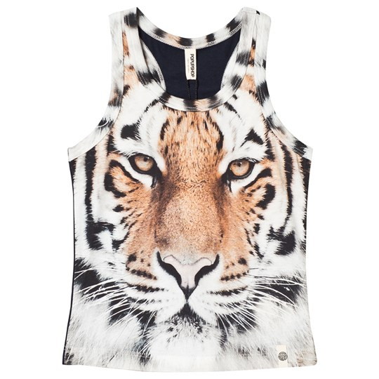 Popupshop Basic Tank Top Tiger Tiger