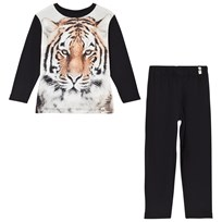 Popupshop Tiger Pyjamas Black Tiger On Black