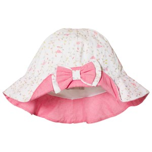 Image of Dr Kid Bird and Floral Print Infants Sun Hat Off White 2 (6-9 months) (2996518955)