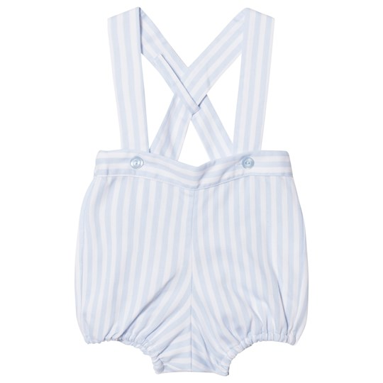 Dr Kid Stripe Romper Blue and White 105
