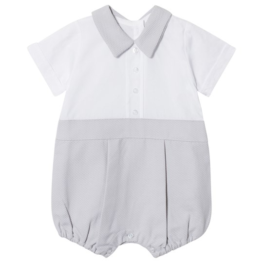 Dr Kid Shirt Romper White and Gray 000