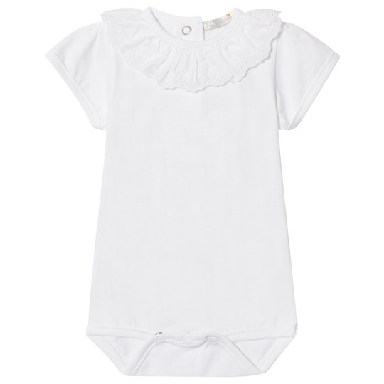 Dr Kid Frill Collar Baby Body White 000