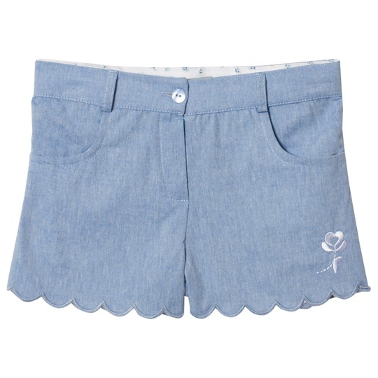 Dr Kid Chambray Scolloped Edge Shorts Blue 105