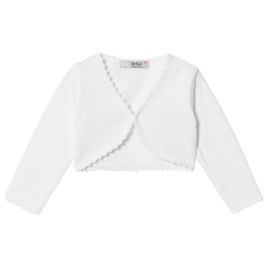 Dr Kid Knitted Infants Cardigan with Scalloped Edge White 000