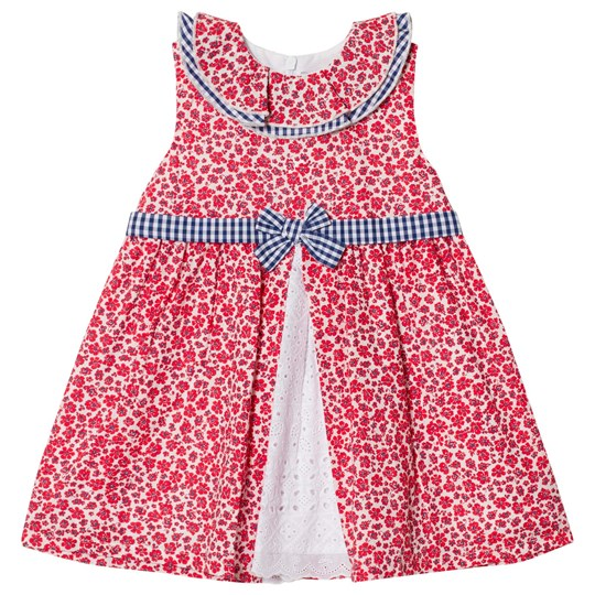 Dr Kid Floral and Gingham Detail Infants Dress Red 160