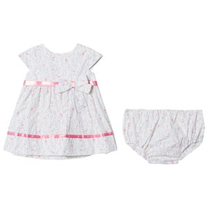 Image of Dr Kid Bird and Floral Print Infants Dress Off White 12 months (2996518951)