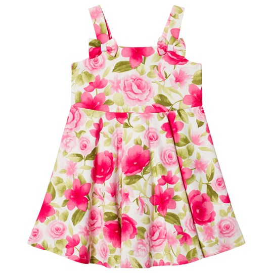 Dr Kid Floral Print Dress with Bow Detail Pink 760