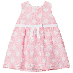 Dr Kid Spotted Lace Infants Dress Pink and White